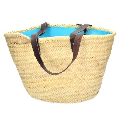 Τσάντα θαλάσσης ψάθα μπέζ