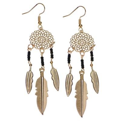 Azadé σκουλαρίκια χρυσά κρεμαστά