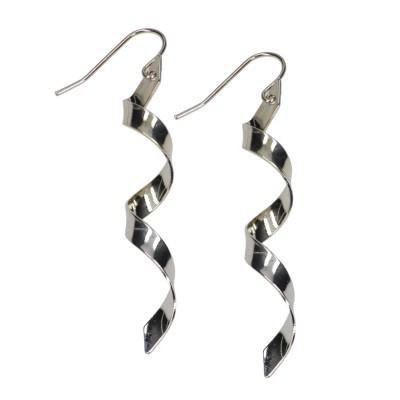 Azadé σκουλαρίκια μεσαίου μεγέθους ασημένια