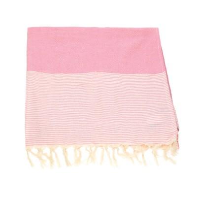 Πετσέτα θαλάσσης τύπου hamam ροζ