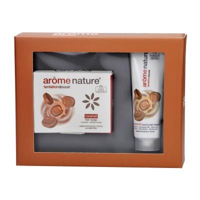 Arôme Nature Σετ Κρέμα Χεριών και Σαπούνι Caramel