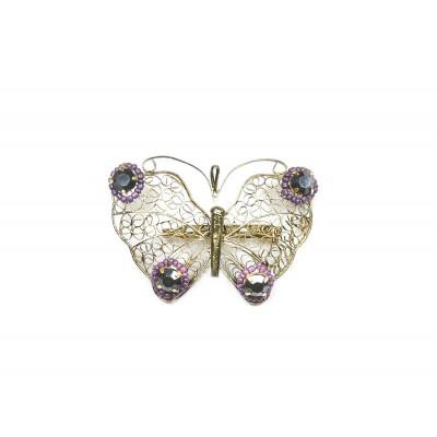 Καρφίτσα χρυσή πεταλούδα