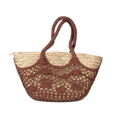 Τσάντα μπεζ θαλάσσης