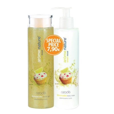 Arome Nature Set Body Scrub & Body Lotion Lemoncake 2x300ml