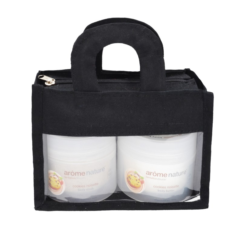 Arome Nature Set Black Bag Noisette Body Butter & Scrub