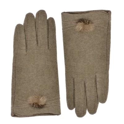 azadé γάντια μπέζ