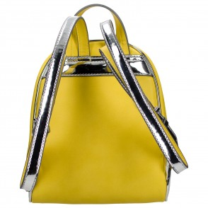 Azadé τσάντα κίτρινο σακίδιο με μεταλλιζέ λεπτομέρεια