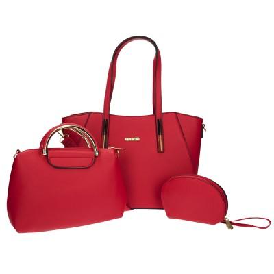 Azadé τσάντα κόκκινη χειρός