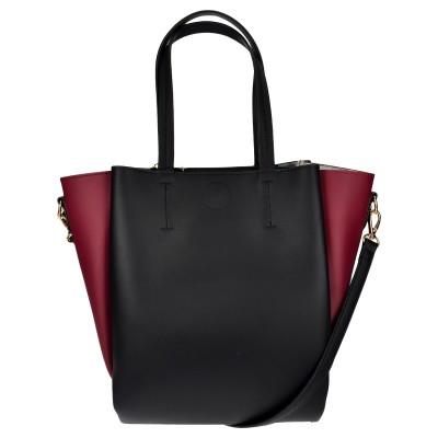 Τσάντα χειρός μαύρη/μπορντό
