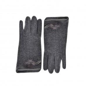 Γάντια υφασμάτινα γκρι