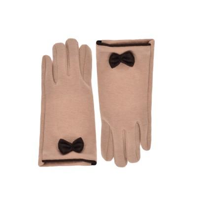 Γάντια υφασμάτινα μπεζ