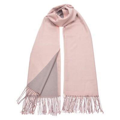 Φουλάρι διπλής όψης ροζ/γκρι