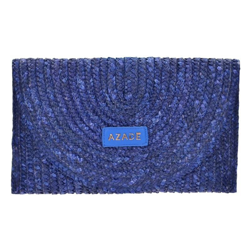 Straw Envelope Bag Blue Royal