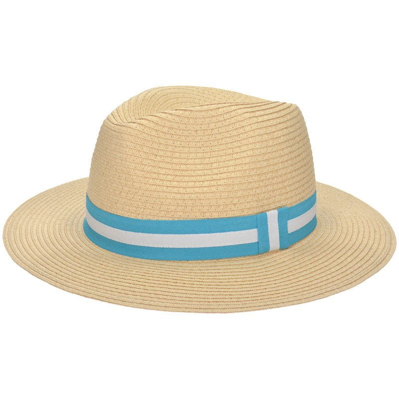Panama Hat Natural/ Turquoise