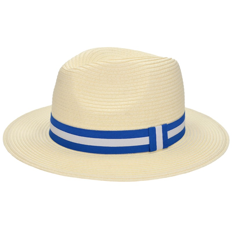 Panama Hat Ivory/Blue-White