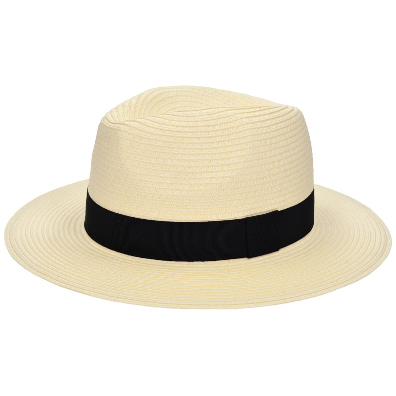 Panama Hat Ivory/Black