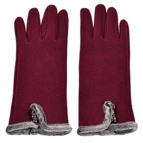 Γάντια Μπορντώ Touchscreen