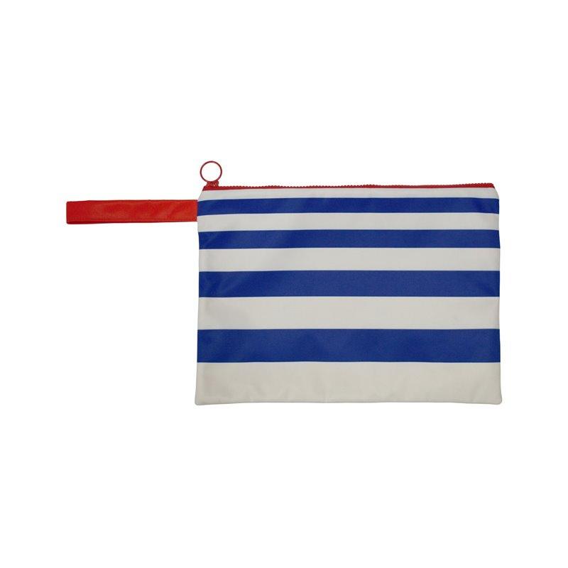 Αδιάβροχο τσαντάκι παραλίας Ριγέ Λευκό/μπλε
