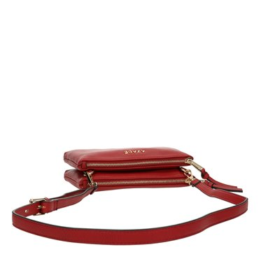 Azadé Cross Double Pouch Bag Κόκκινη
