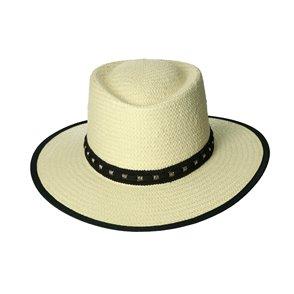 Azadé Ψάθινo Καπέλο Natural/black Handmade
